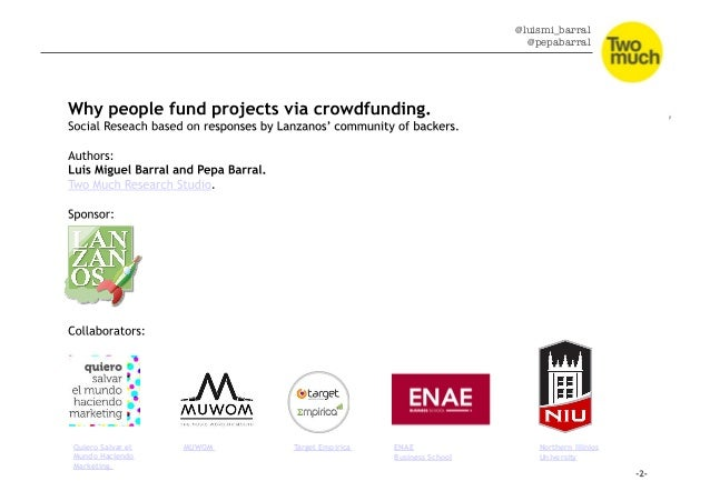 Conclusions: why do people fund projects via crowdfunding? Slide 2