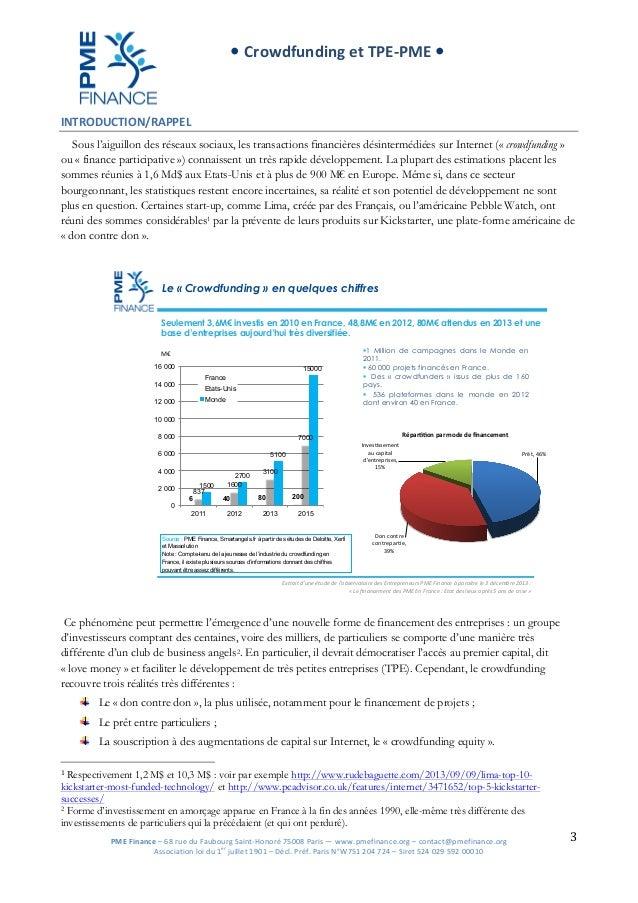 Crowdfunding et tpe pme pm efinance 131113 def Slide 3