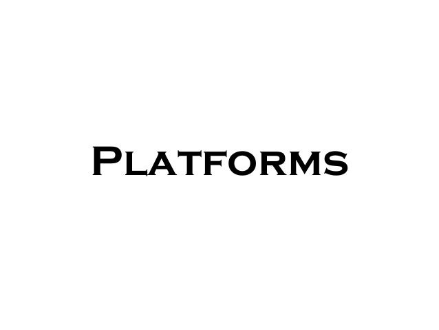 General platform for city projects