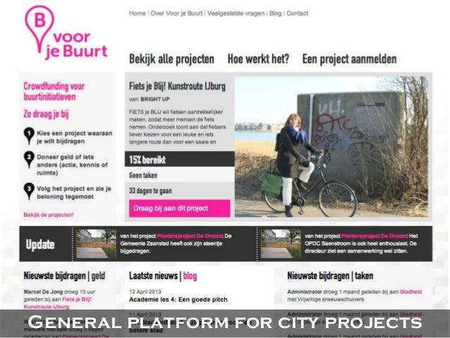 Platform by urban development agency