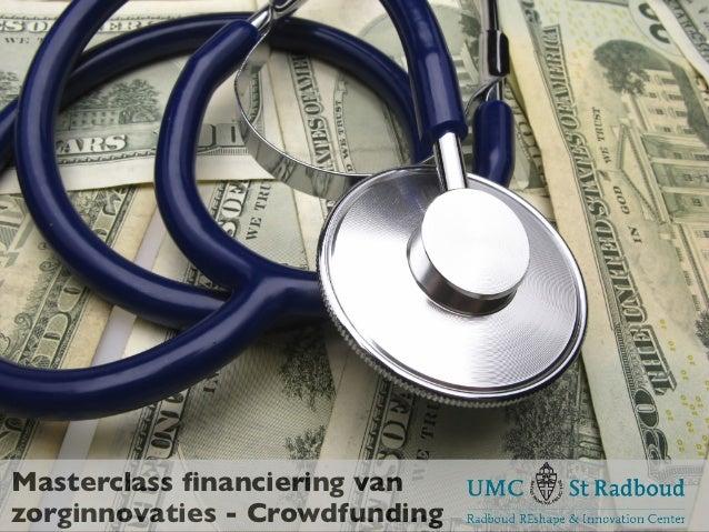 Masterclass financiering vanzorginnovaties - Crowdfunding