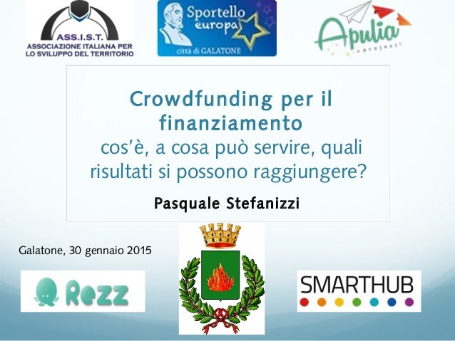 Crowdfunding per il finanziamento