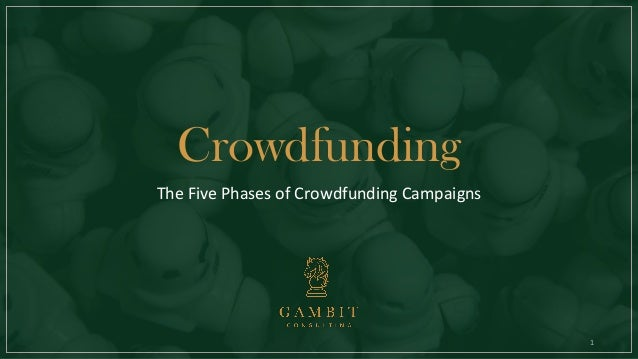 1 Crowdfunding The Five Phases of Crowdfunding Campaigns