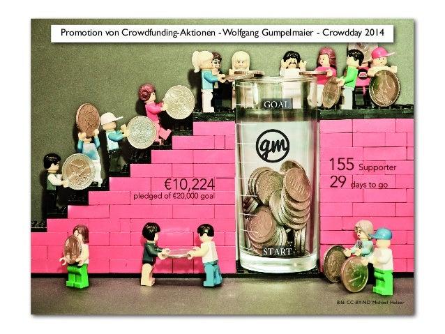 Promotion von Crowdfunding-Aktionen - Wolfgang Gumpelmaier - Crowdday 2014  Bild: CC-BY-ND Michael Holzer