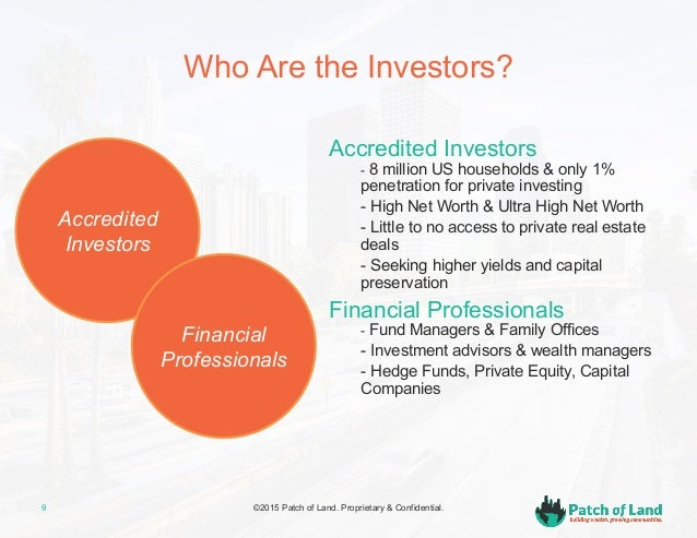 Crowdfunding real estate with patch of land - Family office vs hedge fund ...