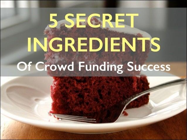 5 SECRET   INGREDIENTS Of Crowd Funding Success