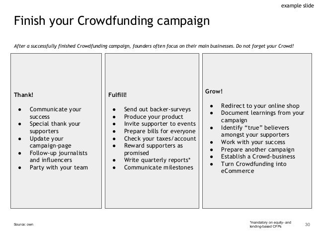 Finish your Crowdfunding campaign After a successfully finished Crowdfunding campaign, founders often focus on their main ...