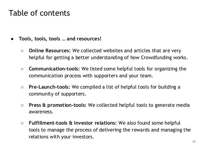 ● Tools, tools, tools … and resources! ○ Online Resources: We collected websites and articles that are very helpful for ge...