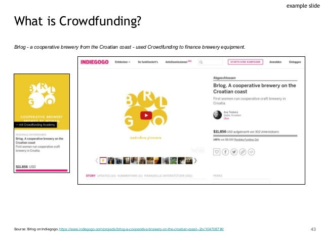 What is Crowdfunding? Brlog - a cooperative brewery from the Croatian coast - used Crowdfunding to finance brewery equipme...