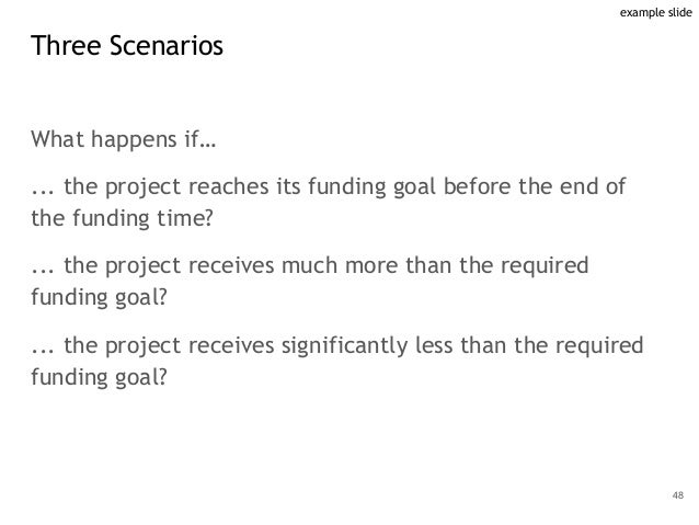 What happens if… ... the project reaches its funding goal before the end of the funding time? ... the project receives muc...
