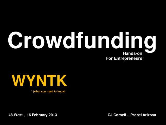 Crowdfunding                                    Hands-on                                        For Entrepreneurs WYNTK   ...