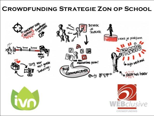 Crowdfunding Strategie Zon op School
