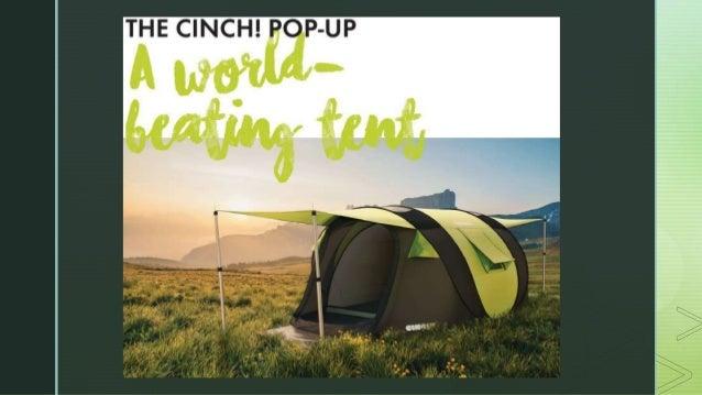 ... 4. z Cinch! Pop-up Tent The wordu0027s smartest pop-up tent Regular Entrepreneurship ... & Crowdfunding write-ups