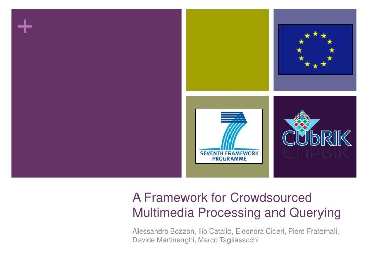 +    A Framework for Crowdsourced    Multimedia Processing and Querying    Alessandro Bozzon, Ilio Catallo, Eleonora Cicer...