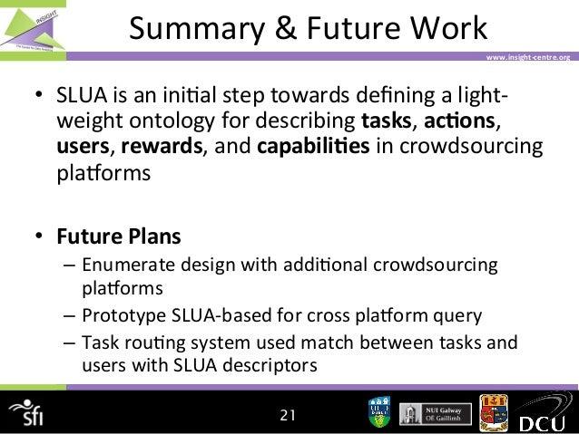 Summary  &  Future  Work   www.insight-‐centre.org    • SLUA  is  an  ini4al  step  towards  defini...