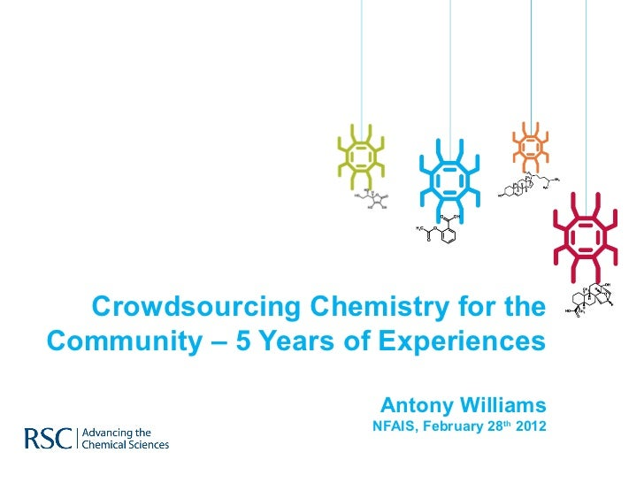 Crowdsourcing Chemistry for the Community – 5 Years of Experiences Antony Williams NFAIS, February 28 th  2012