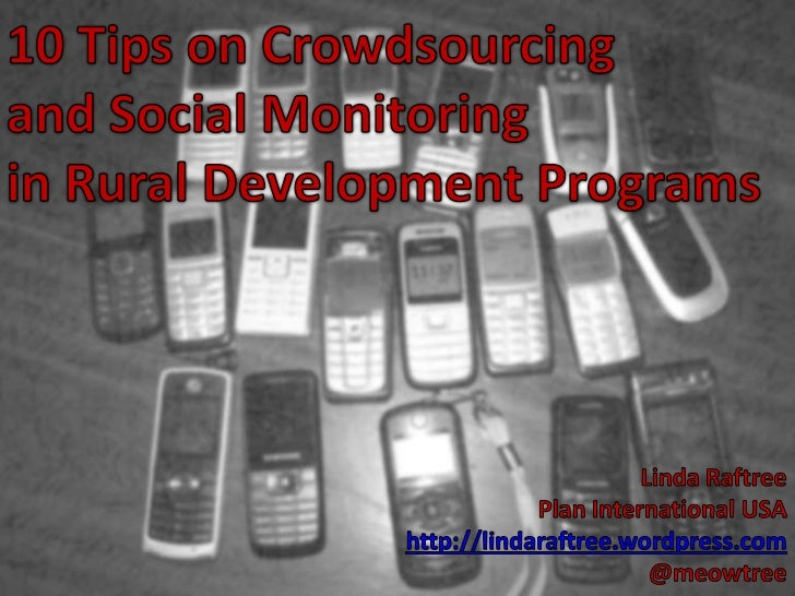 Crowdsourcing panel