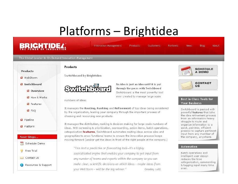 Platforms– Brightidea