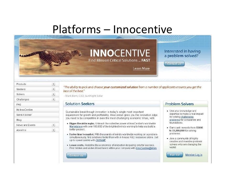 Platforms– Innocentive
