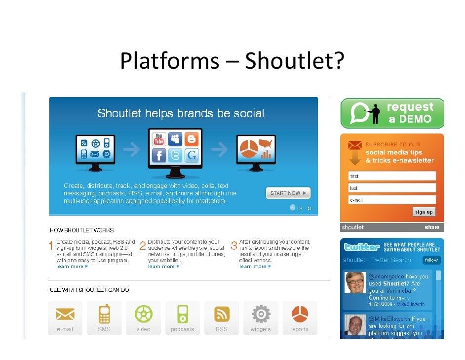 Platforms– Shoutlet?