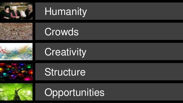 Crowdsourcing Week keynote: The Future of Creativity and Innovation