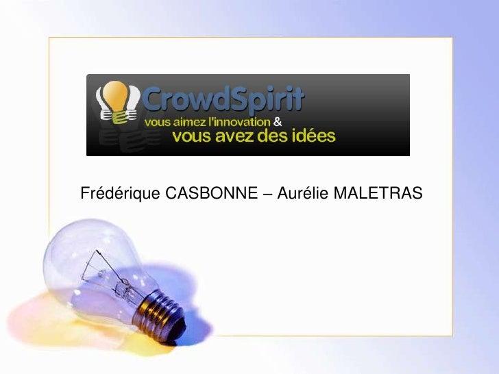 Frédérique CASBONNE – Aurélie MALETRAS<br />
