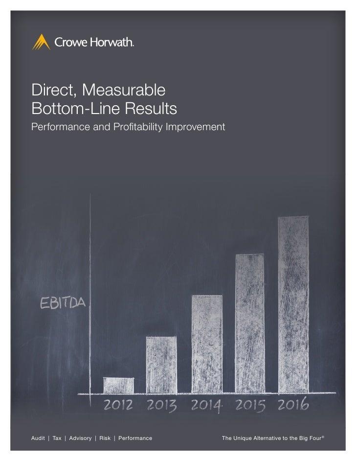 Direct, MeasurableBottom-Line ResultsPerformance and Profitability ImprovementAudit   Tax   Advisory   Risk   Performance ...
