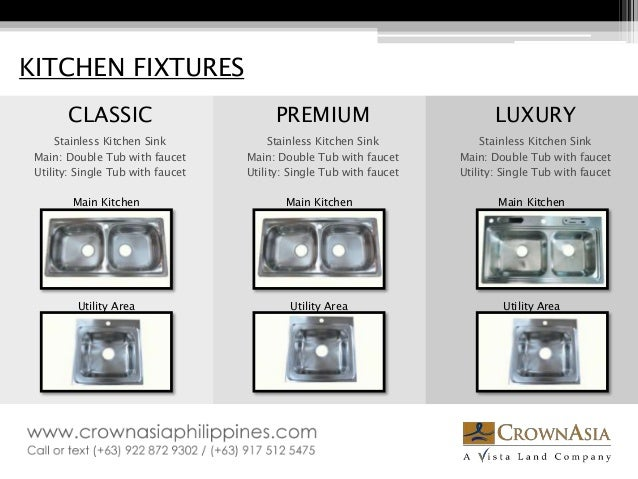 Kitchen Fixtures Classic Premium Luxury Stainless Kitchen Sink