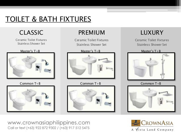 Bathroom Fixtures Names crown asia - specifications catalogue (materials and finishes for ita…