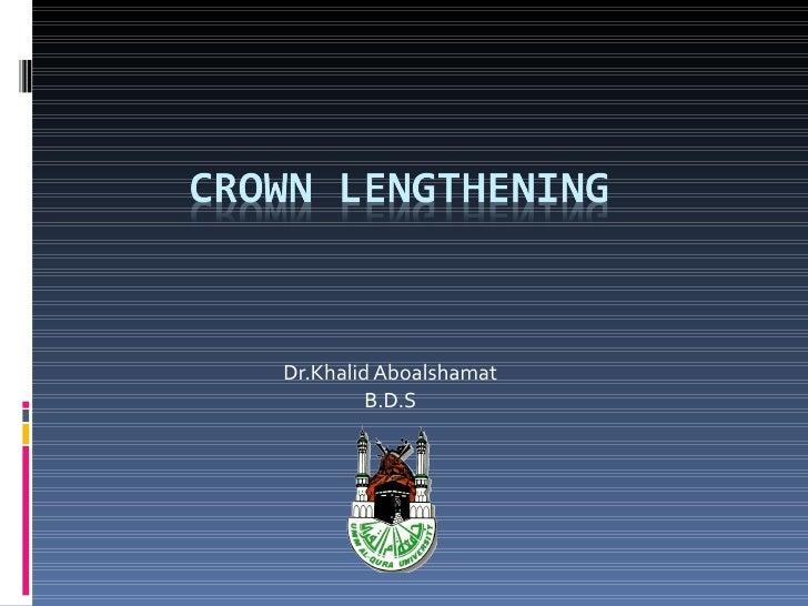 Dr.Khalid Aboalshamat B.D.S