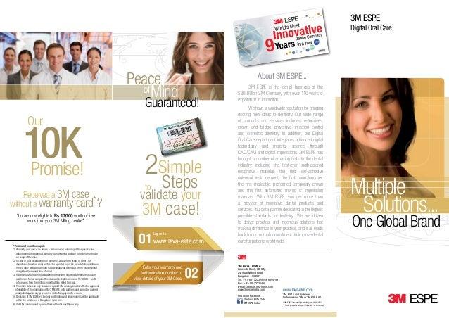Crowns and Bridges Lava Elite Dentist Brochure