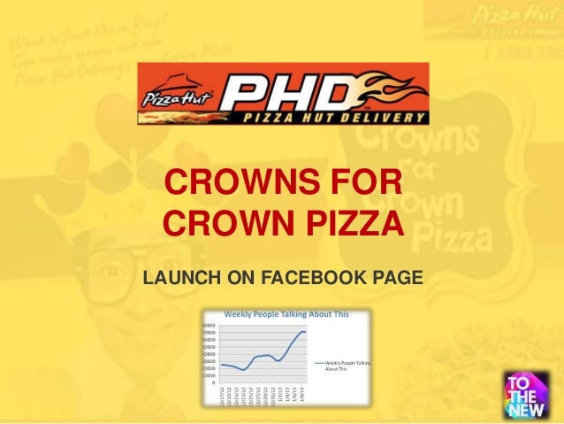 CROWNS FOR CROWN PIZZALAUNCH ON FACEBOOK PAGE
