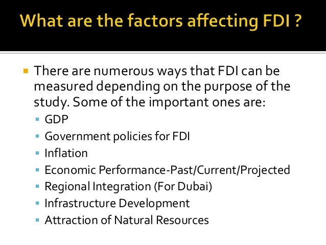factors affecting fdi inflow in tanzania Kuwait chapter of arabian journal of business and management review vol 1, no4 december 2011 128 factors attracting fdi inflow in china m asim faheem(1), m khyzer bin dost(1), anwer.