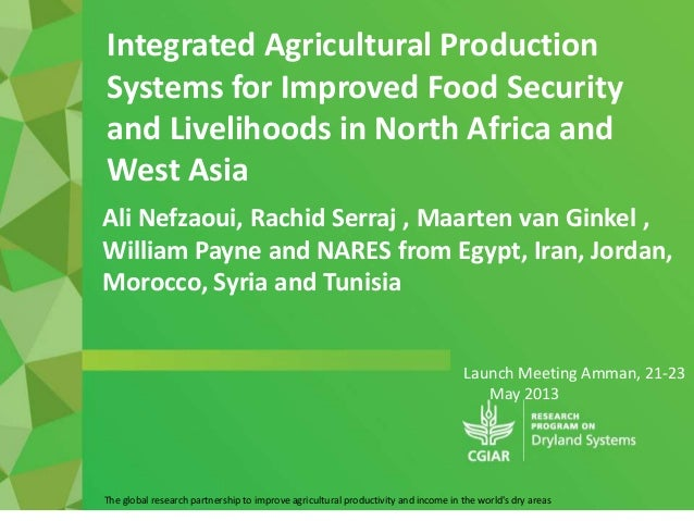 Launch Meeting Amman, 21-23May 2013The global research partnership to improve agricultural productivity and income in the ...