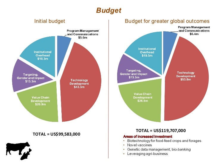 Budget TOTAL = US$99,583,000 TOTAL = US$119,707,000 Initial budget Budget for greater global outcomes