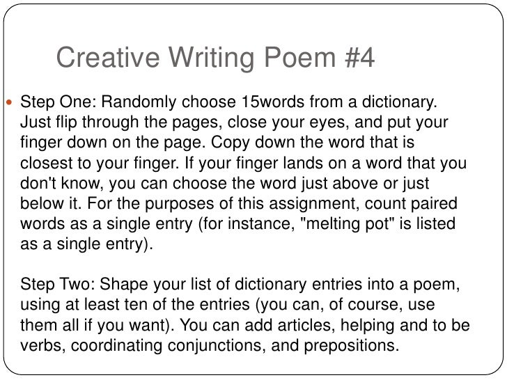 poetry essay prompt Writing about poetry can be difficult before you begin to organize your essay, read the poem aloud several times hamilton college 198 college hill road.