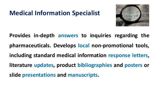 medical information specialist - Medical Information Specialist