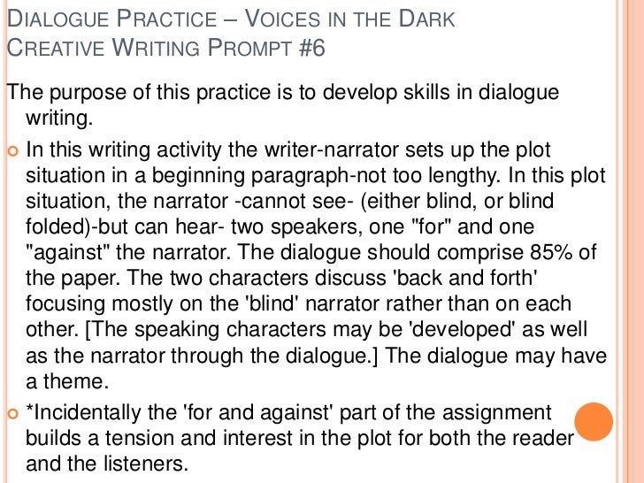Group creative writing gcse example answers