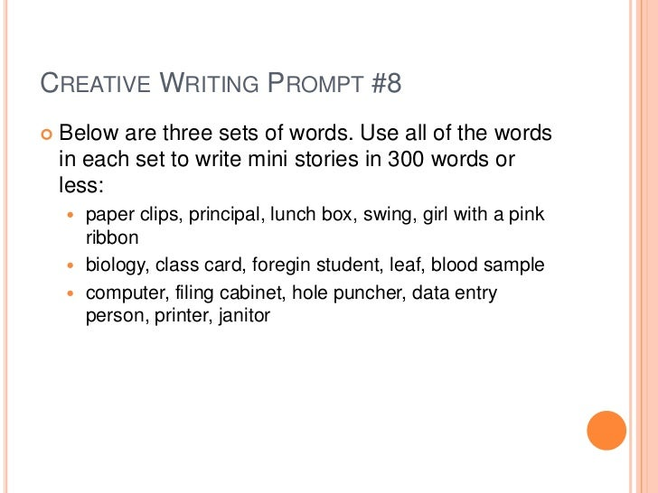 Creative writing prompts ssat