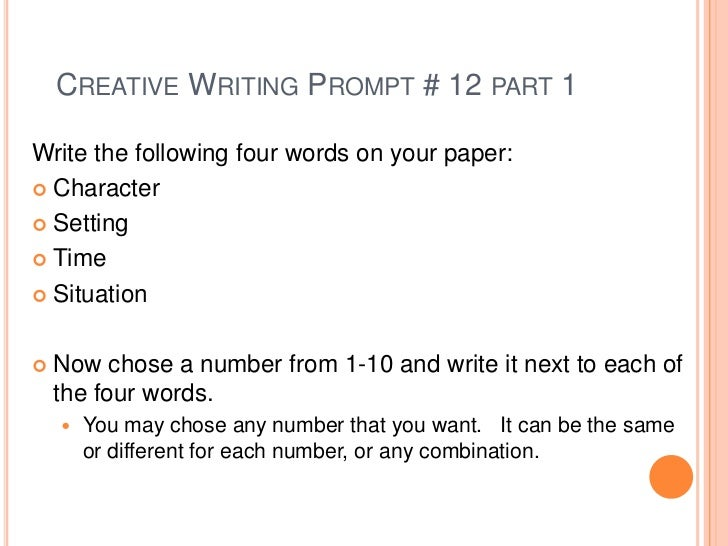 cool writing prompts for high school