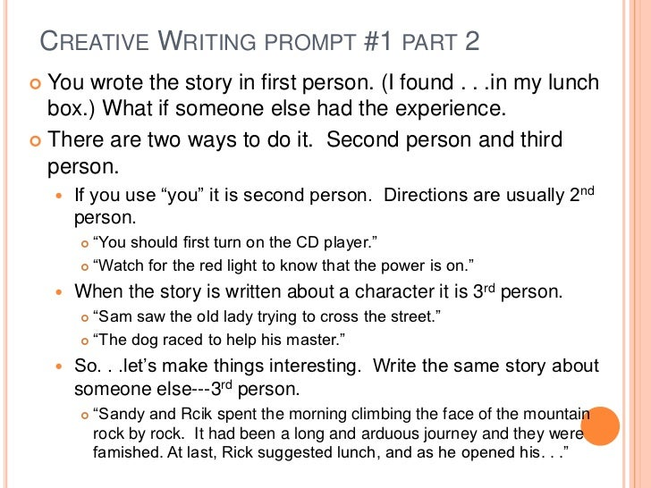creative writing about knowing a person Luckily, i have several books and other writing resources that are packed with writing exercises and creative writing prompts sometimes, all it takes are a few words to get me started, and then i'm off, writing into the sunset.