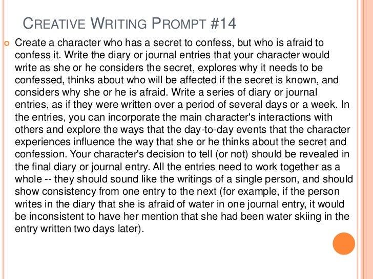 Creative Writing writing assignment topics