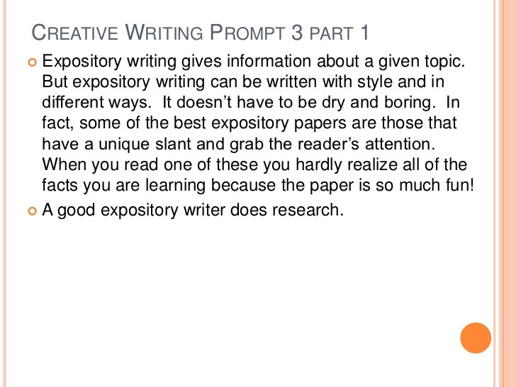 Creative writing assignments for adults
