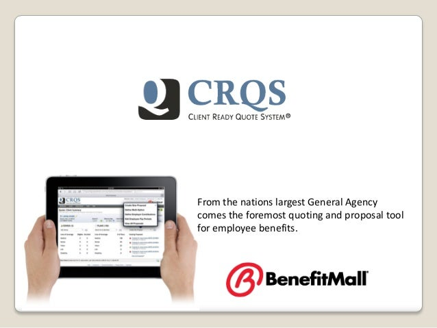 From the nations largest General Agencycomes the foremost quoting and proposal toolfor employee benefits.