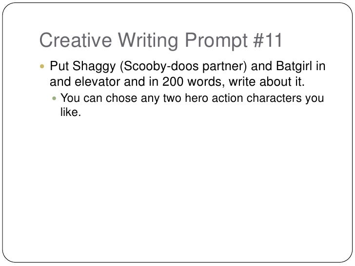 Creative Writing Quick Writes Prompts