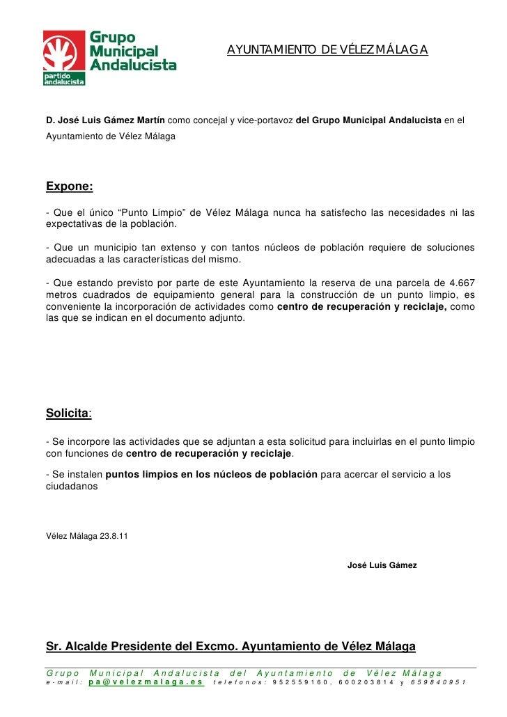 AYUNTAMIENTO DE VÉLEZ MÁLAGAD. José Luis Gámez Martín como concejal y vice-portavoz del Grupo Municipal Andalucista en elA...