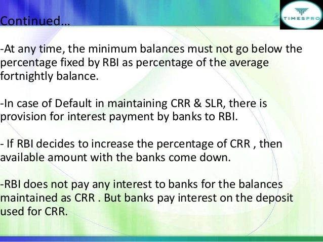 crr and slr Impact of repo rate, crr, slr on indian economy.