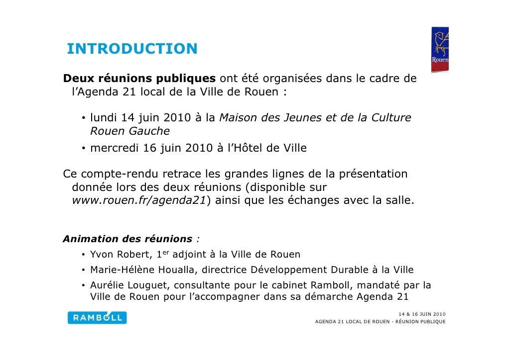 Compte-rendu réunions publiques Agenda 21 du 14 et 16 juin Slide 3