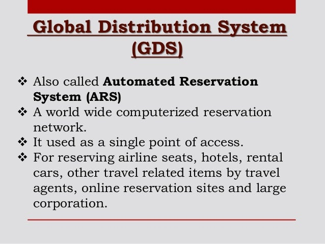global distribution system essay Global distribution system latest breaking news, pictures, videos, and special reports from the economic times global distribution system blogs, comments and archive news on economictimescom.