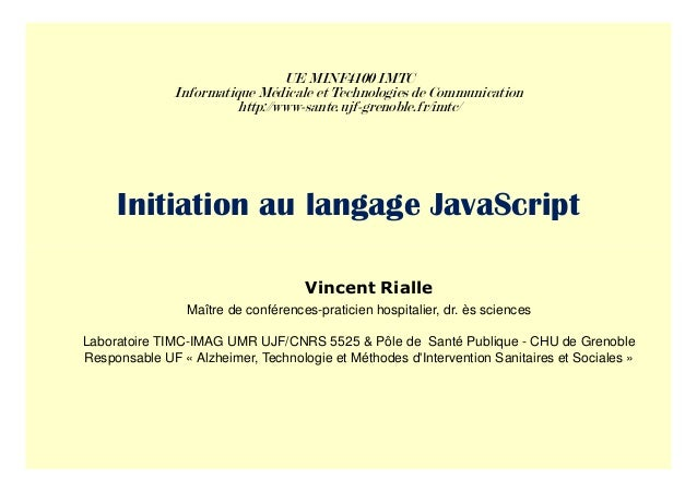UE MINF4100 IMTC               Informatique Médicale et Technologies de Communication                        http://www-sa...
